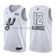 San Antonio Spurs LaMarcus Aldridge 12# Vit 2018 All Star Game NBA Basketlinne..